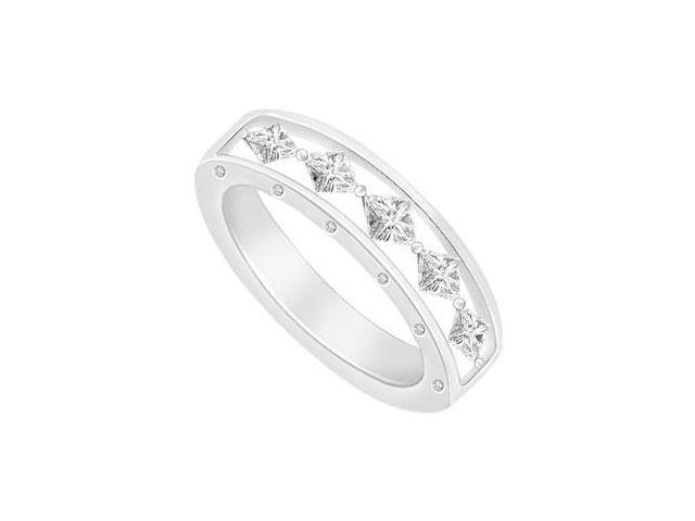 Diamond Wedding Band  14K White Gold - 2.10 CT Diamonds