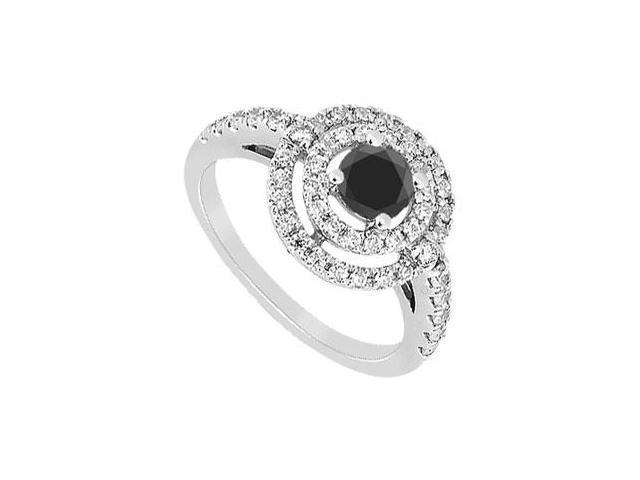 Black Diamond Ring  14K White Gold - 1.75 CT Diamonds