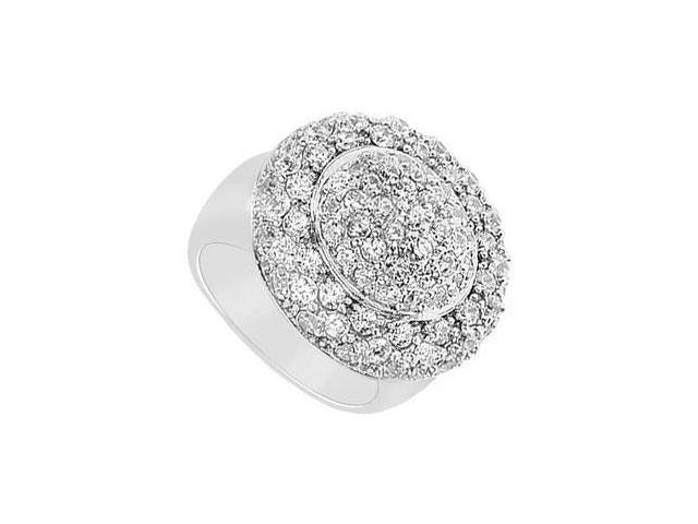 Diamond Ring  14K White Gold - 2.50 CT Diamonds