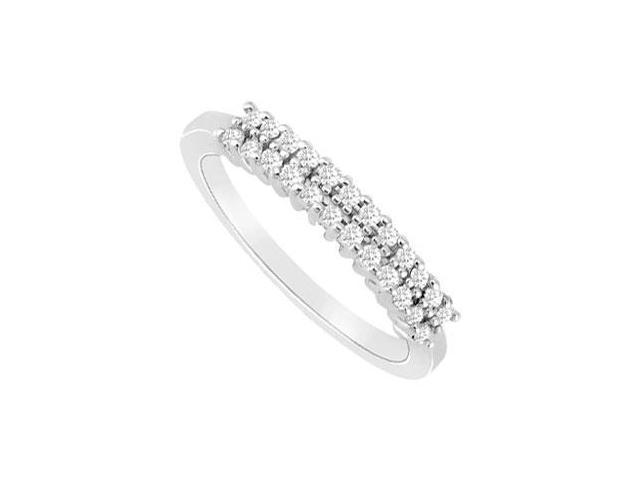 Diamond Wedding Band Ring  14K White Gold - 0.25 CT Diamonds
