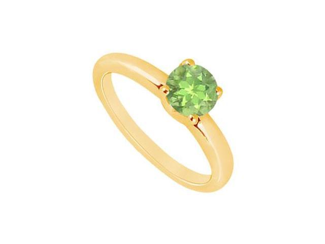 Peridot Ring  14K Yellow Gold - 1.00 CT TGW