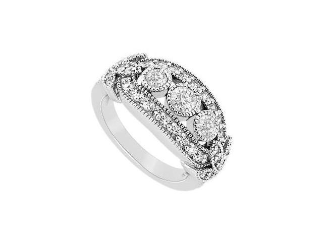 Diamond Ring  14K White Gold - 1.00 CT TGW