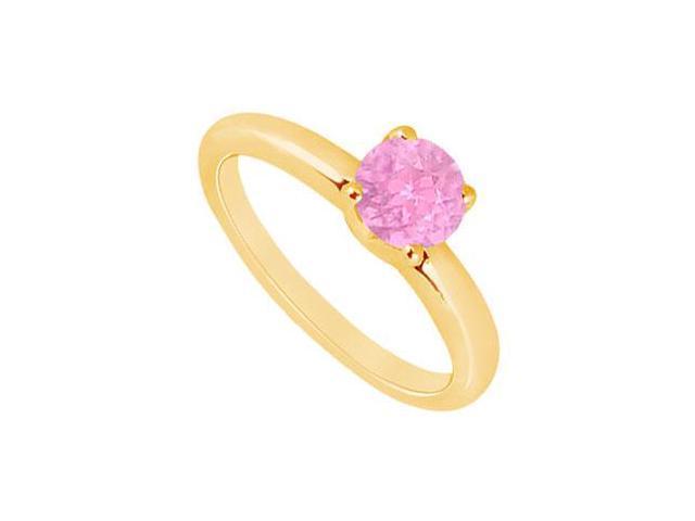 Pink Topaz Ring  14K Yellow Gold - 1.00 CT TGW