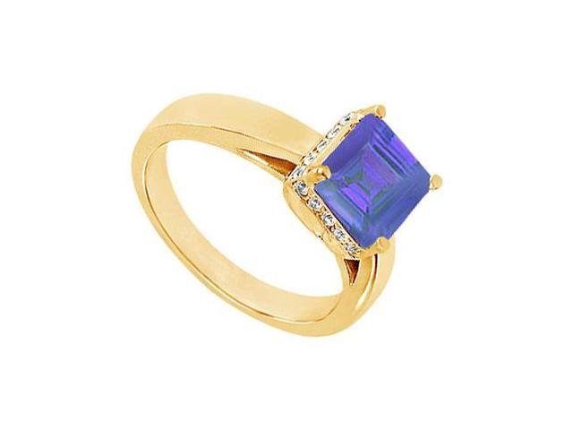 Sapphire and Diamond Ring  14K Yellow Gold - 1.00 CT TGW