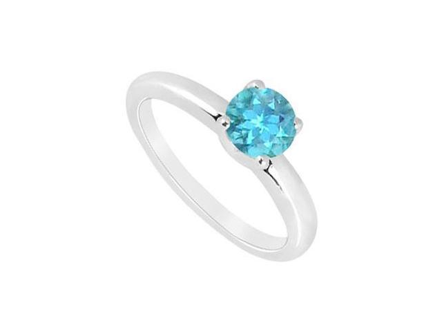 Blue Topaz Ring  14K White Gold - 1.00 CT TGW