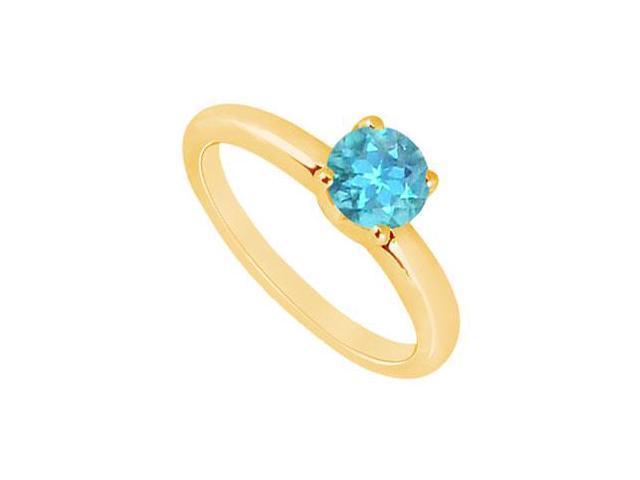 Blue Topaz Ring  14K Yellow Gold - 1.00 CT TGW