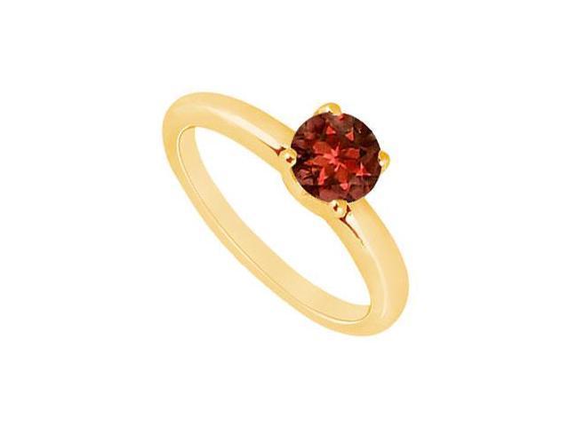 Garnet Ring  14K Yellow Gold - 1.00 CT TGW