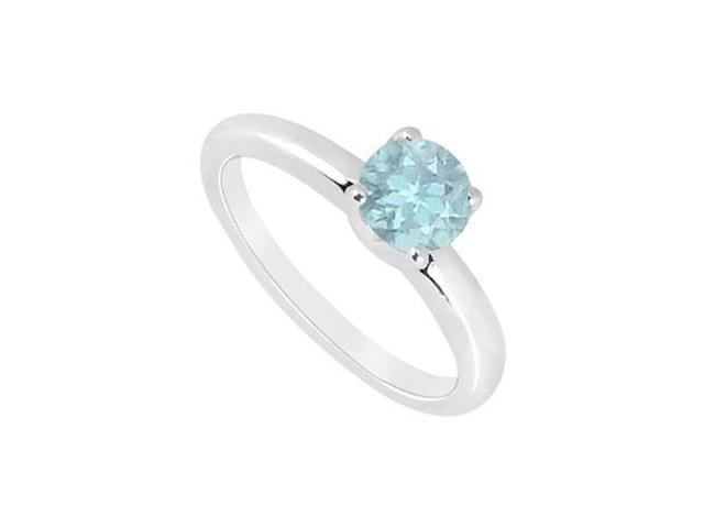 Aquamarine Ring  14K White Gold - 1.00 CT TGW