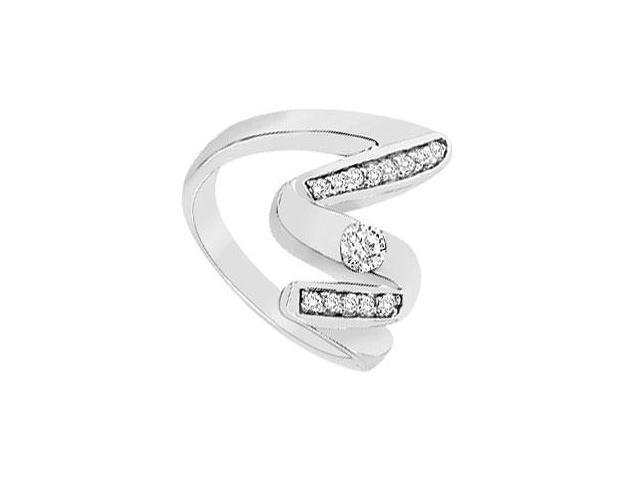 Diamond Zig-Zag Ring  14K White Gold  0.33 CT TGW