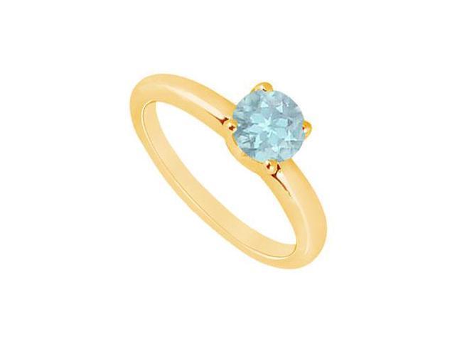 Aquamarine Ring  14K Yellow Gold - 1.00 CT TGW