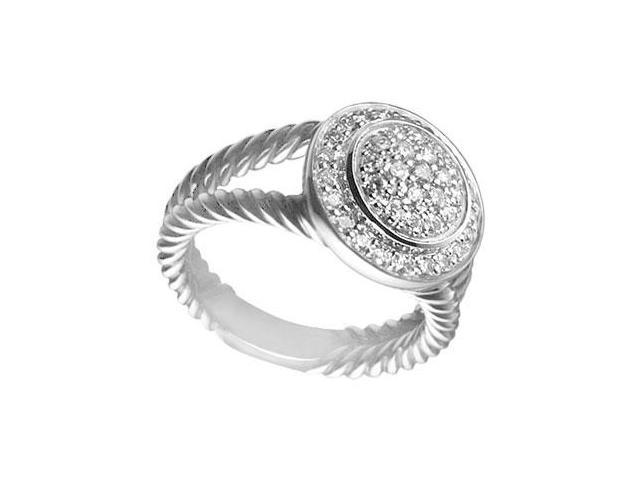 Diamond Rope Circle Ring  14K White Gold - 0.50 CT Diamonds