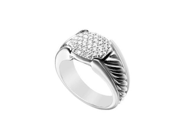 Diamond Rope Ring  14K White Gold - 0.50 CT Diamonds