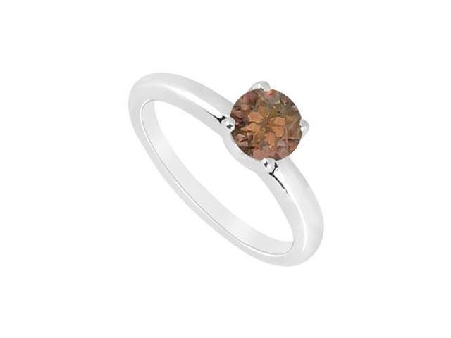 Smoky Topaz Ring  14K White Gold - 1.00 CT TGW
