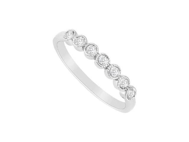 Diamond Wedding Band  14K White Gold - 0.15 CT Diamonds