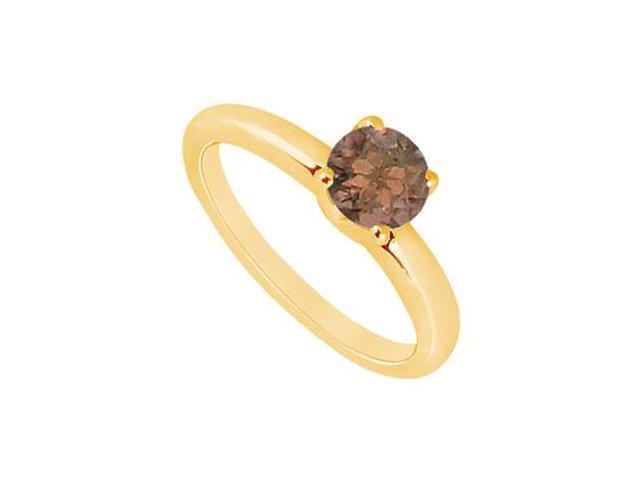 Smoky Topaz Ring  14K Yellow Gold - 1.00 CT TGW