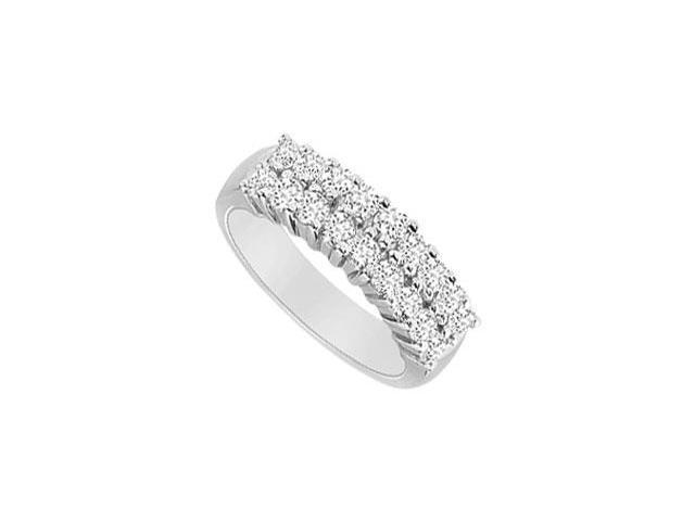 Diamond Wedding Band  14K White Gold - 1.00 CT Diamonds