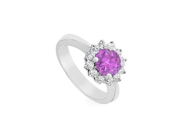 Amethyst and Diamond Ring  14K White Gold - 1.50 CT TGW