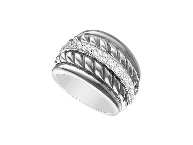 Diamond Rope Ring  14K White Gold - 0.50 CT Diamonds