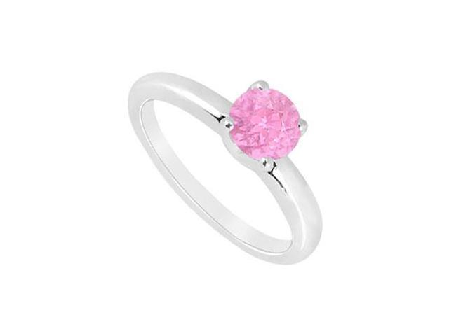 Pink Sapphire Ring  14K White Gold - 1.00 CT TGW