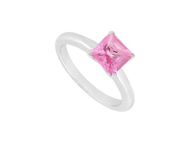 Pink Sapphire Ring  14K White Gold - 0.75 CT TGW