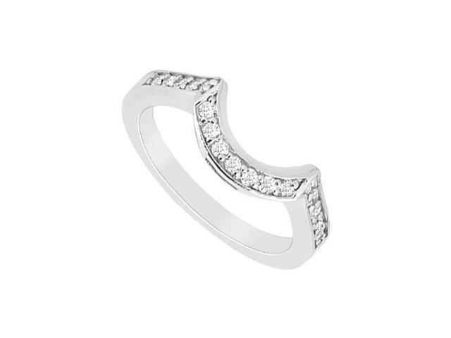 Diamond Wedding Band  14K White Gold - 0.25 CT Diamonds