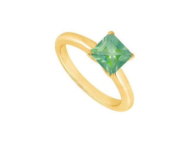 Emerald Ring  14K Yellow Gold - 0.75 CT TGW