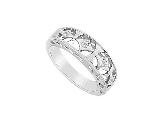 Diamond Ring  14K White Gold - 0.10 CT Diamonds