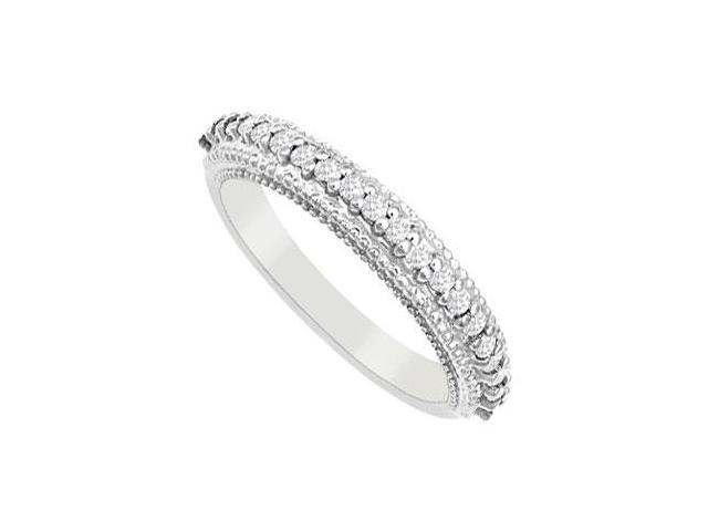 Diamond Wedding Band  14K White Gold - 0.33 CT Diamonds