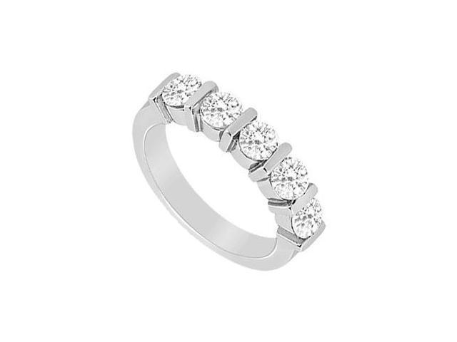 Diamond Wedding Band  14K White Gold - 0.50 CT Diamonds