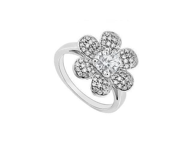Diamond Ring 14K White Gold 1.15 CT TDW
