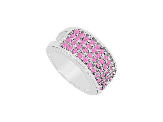 Pink Sapphire Ring  14K White Gold - 1.75 CT TGW