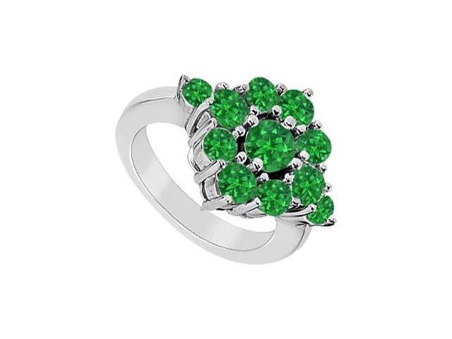 Emerald Ring  14K White Gold - 1.50 CT TGW