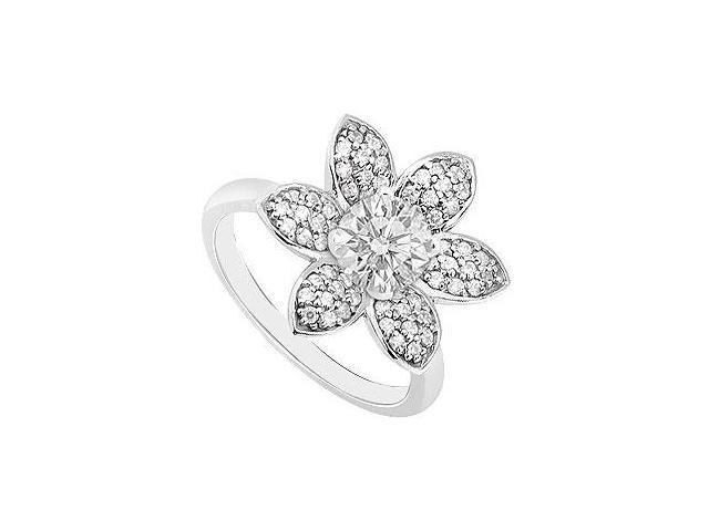 Diamond Ring 14K White Gold 1.00 CT TDW