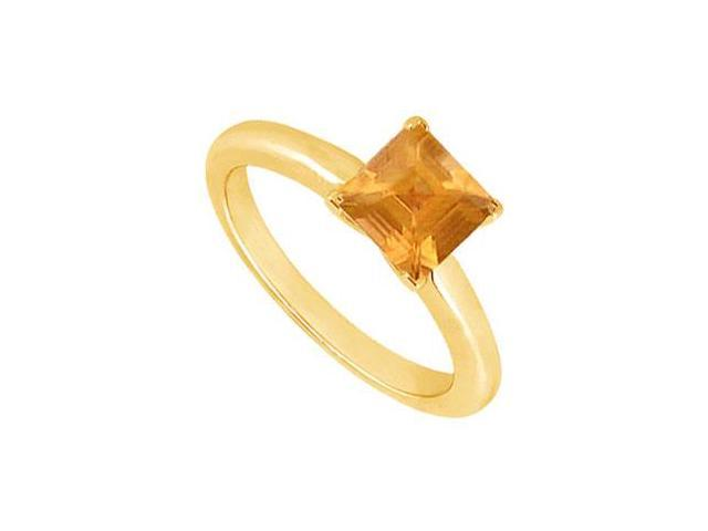 Citrine Ring  14K Yellow Gold - 0.75 CT TGW