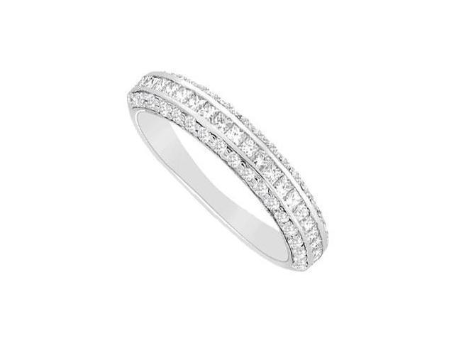 Diamond Wedding Band  14K White Gold - 1.00 CT Diamonds