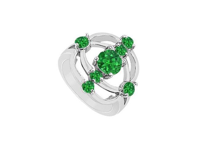 Emerald Rng  14K White Gold - 1.00 CT TGW
