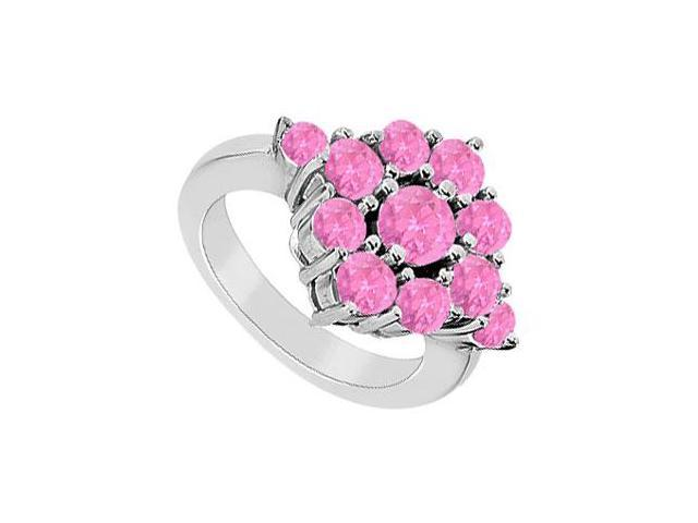 Pink Sapphire Ring  14K White Gold - 1.50 CT TGW