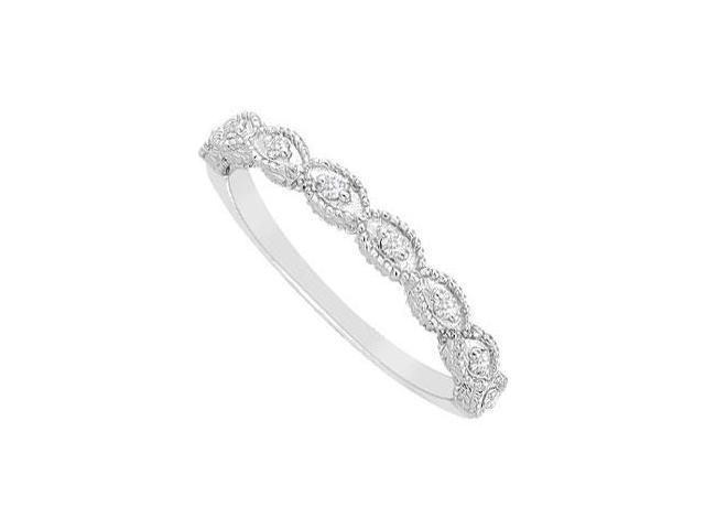 Diamond Wedding Band  14K White Gold - 0.10 CT Diamonds