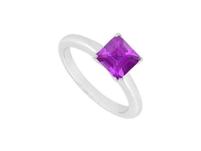 Amethyst Ring  14K White Gold - 0.75 CT TGW