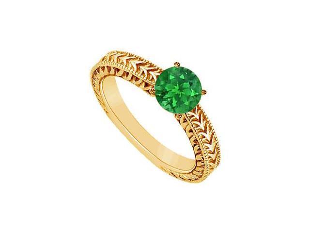 Emerald Ring  14K Yellow Gold - 0.50 CT TGW