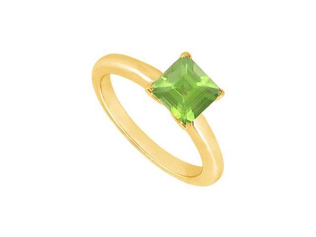 Peridot Ring  14K Yellow Gold - 0.75 CT TGW