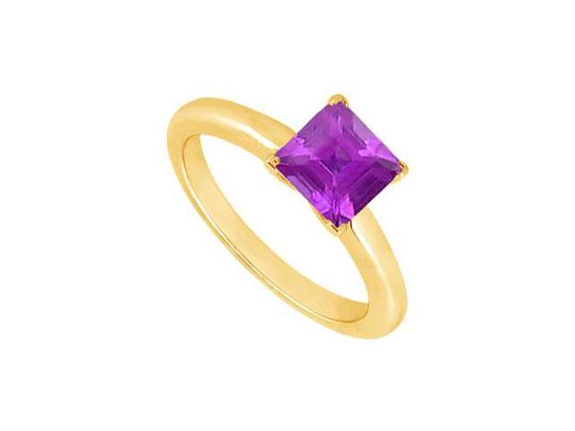 Amethyst Ring  14K Yellow Gold - 0.75 CT TGW