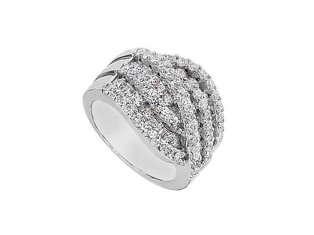 2 Carat CZ Fashion Ring in 14K White Gold
