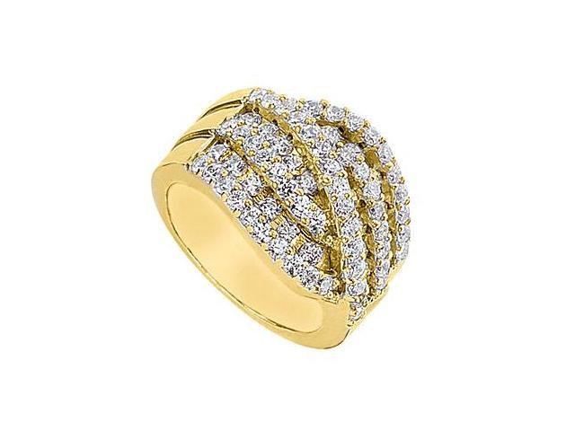 2 Carat Cubic Zirconia Fashion Ring in 14K Yellow Gold