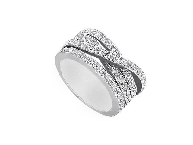 1 Carat Cubic Zirconia Fashion Ring in 14K White Gold
