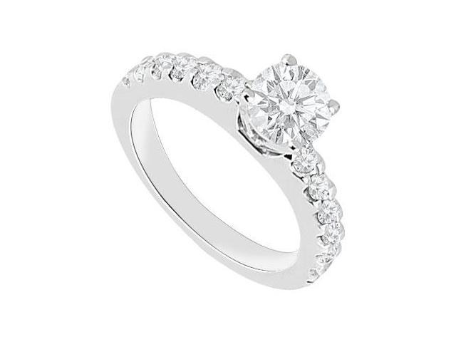 1 Carat Engagement Ring in 14K White Gold Triple AAA Quality of Cubic Zirconia