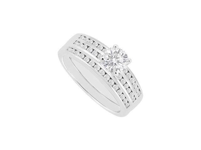 Diamond Engagement Ring in 14K White Gold 0.90 Carat Diamonds