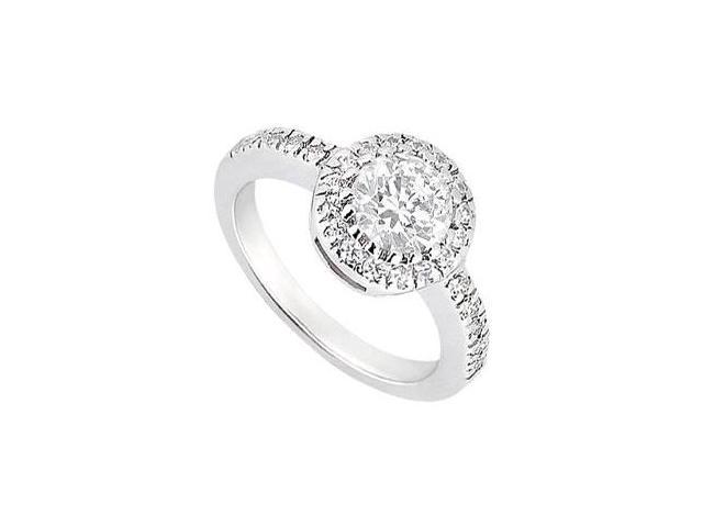 1 Carat Engagement Ring in 14K White Gold Cubic Zirconia Ring