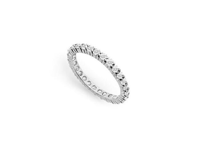 Cubic Zirconia Eternity Band  .925 Sterling Silver - 1.00 CT TGW