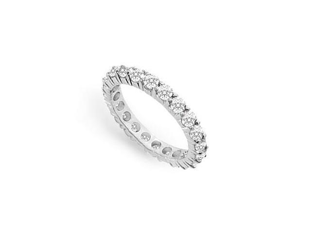 Cubic Zirconia Eternity Band  .925 Sterling Silver - 0.75 CT TGW